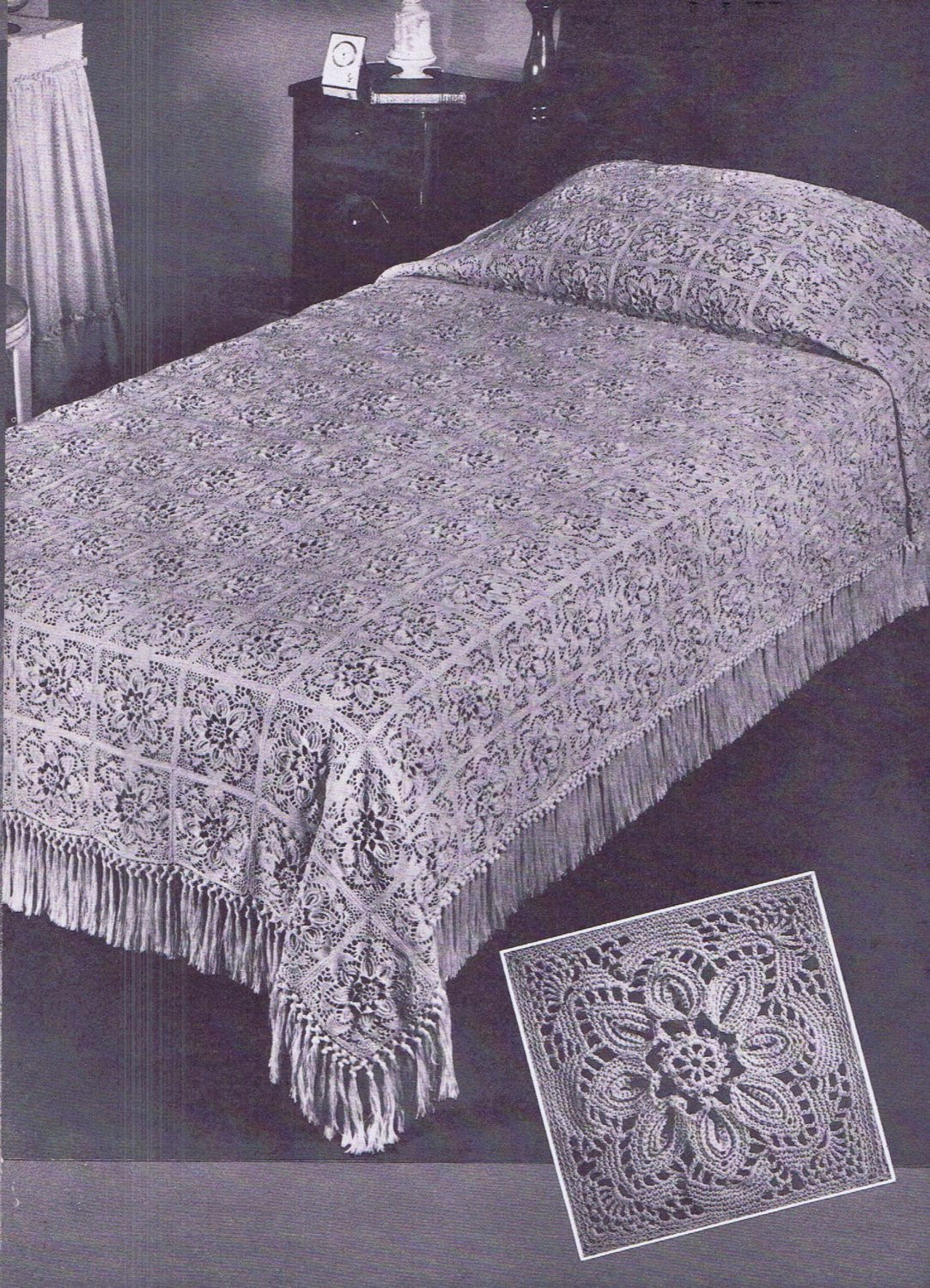 Crochet Bedspread Patterns Awesome Vintage Crochet Pattern In Pdf File for the Puritan Bedspread Of Top 48 Photos Crochet Bedspread Patterns