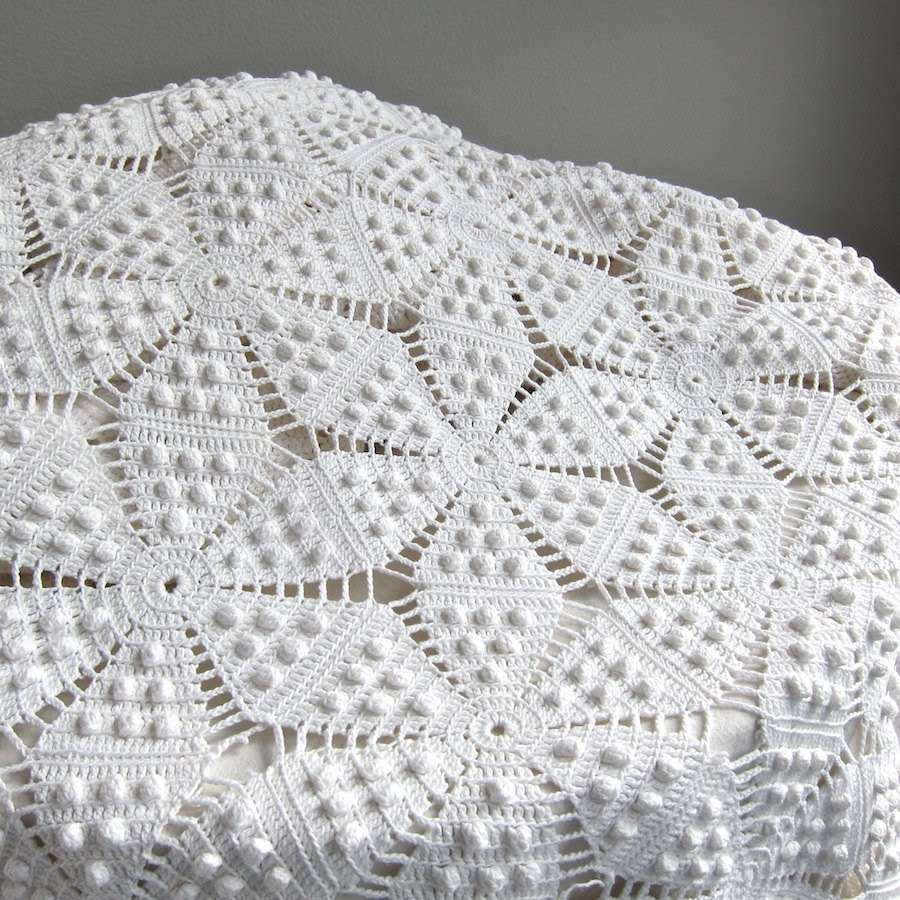 Crochet Bedspread Patterns Awesome Vintage Crocheted Bedspread White Cotton Bedding Star Of Top 48 Photos Crochet Bedspread Patterns