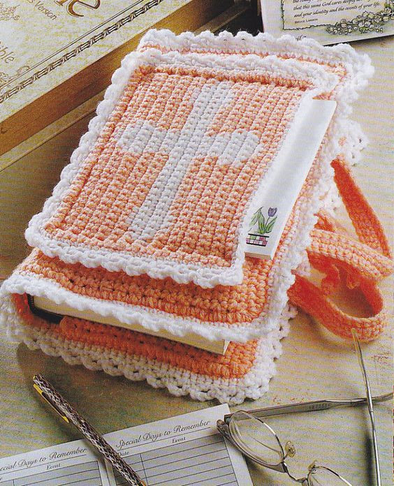 Crochet Bible Cover Awesome Crochet Pattern Pretty Bible Cover Instructions Of Wonderful 48 Models Crochet Bible Cover