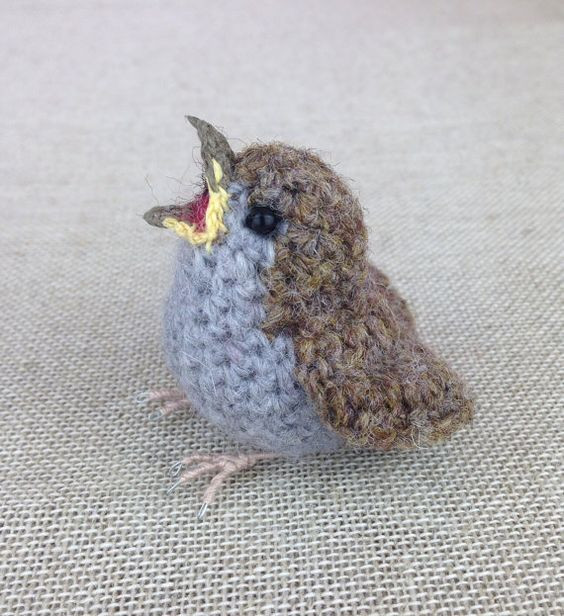 Crochet Birds Unique Cute Baby Sparrow A Freshly Knitted Life Like Bird Of Beautiful 40 Pictures Crochet Birds