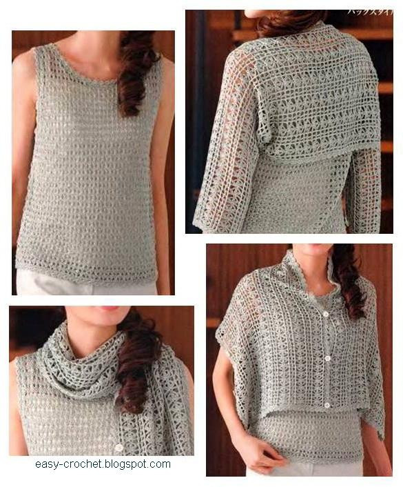Stylish Easy Crochet La s Crochet Shrug free pattern
