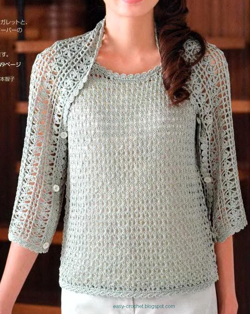 crochet free patterns shrug