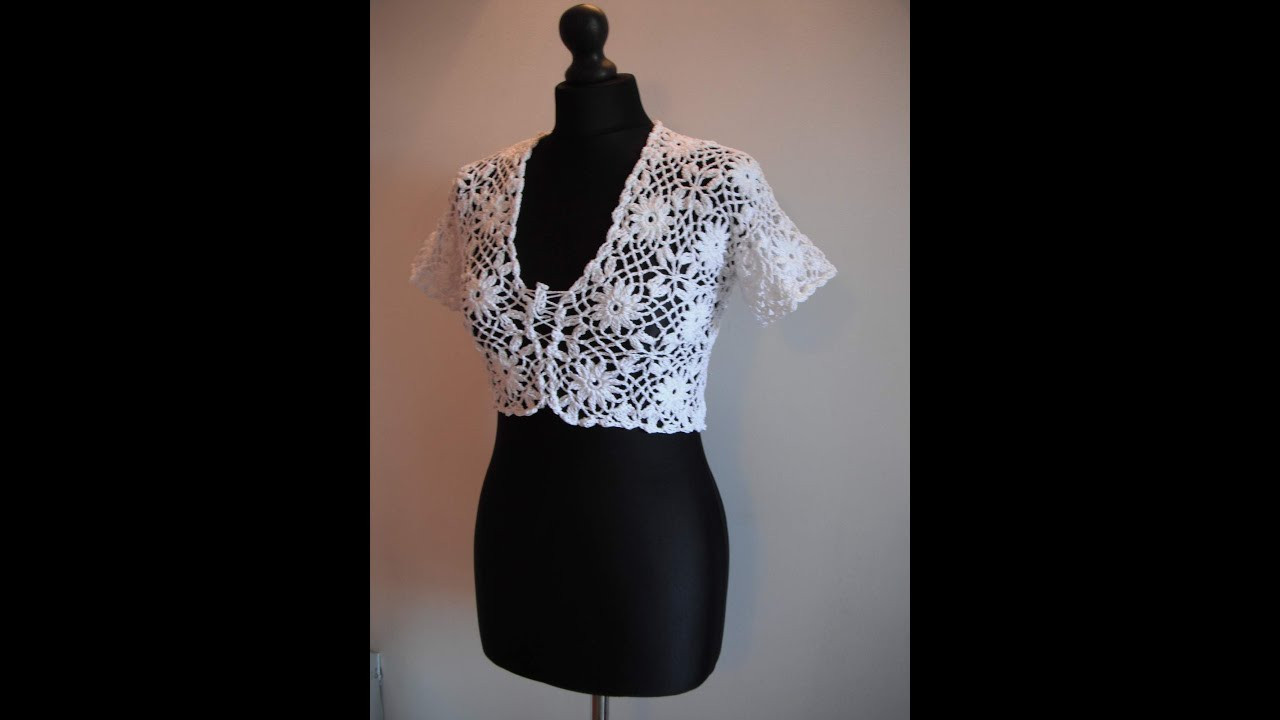 Crochet Boleros Patterns Unique How to Crochet White Bolero Chaleco Free Pattern Tutorial Of Amazing 41 Ideas Crochet Boleros Patterns