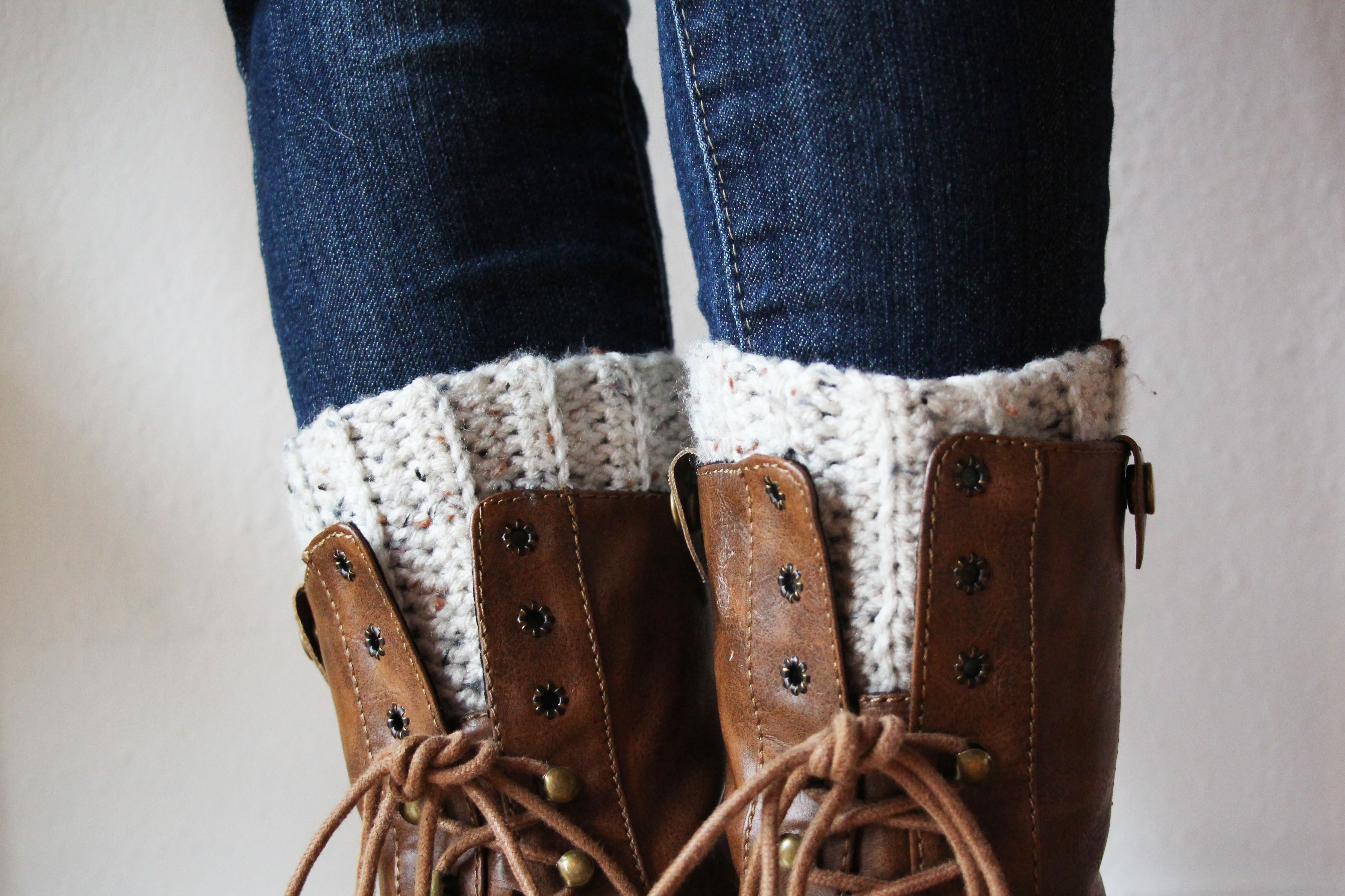 Cute and Easy Crocheted Boot Cuffs