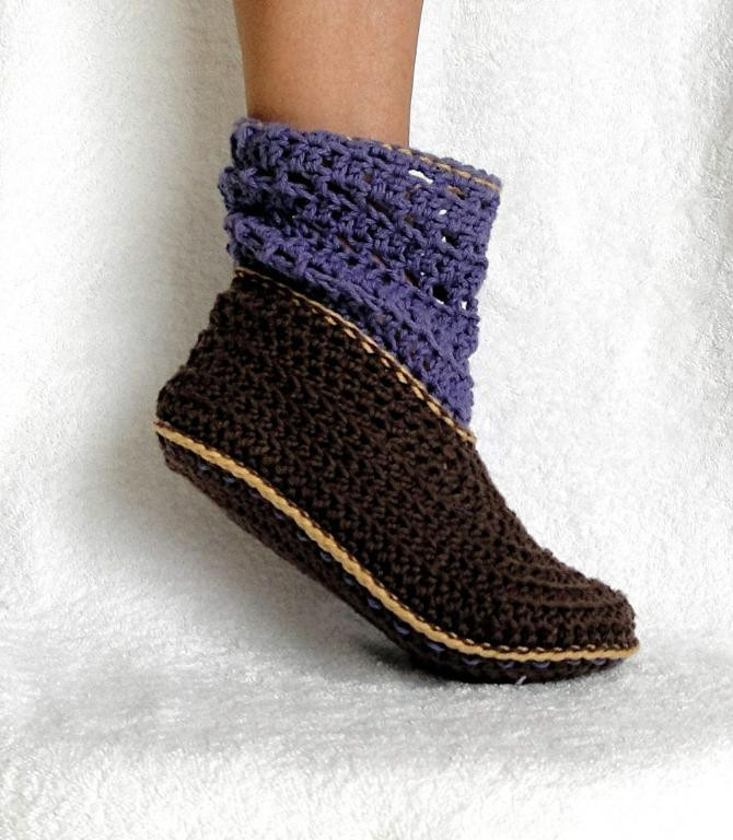 Crochet Booties for Adults Awesome Adult and Kids Cuffed Boots Pattern 12 by Genevive Craftsy Of Delightful 42 Models Crochet Booties for Adults