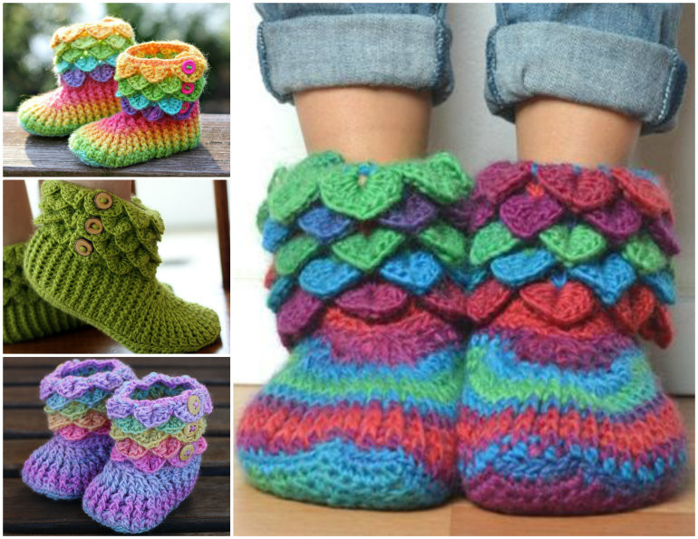 Crochet Booties for Adults Awesome Free Knitted & Crochet Slipper Boots Patterns Of Delightful 42 Models Crochet Booties for Adults