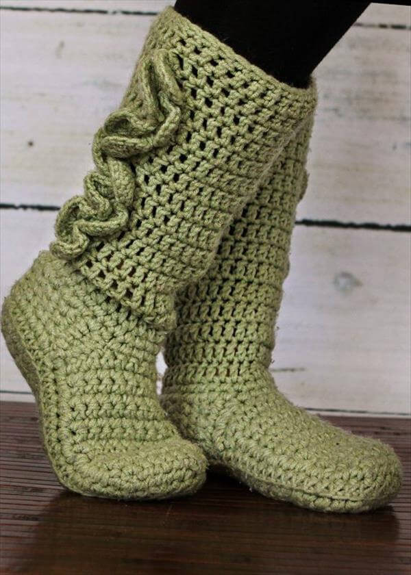 Crochet Booties for Adults Best Of 10 Diy Free Patterns for Crochet Slipper Boots Of Delightful 42 Models Crochet Booties for Adults