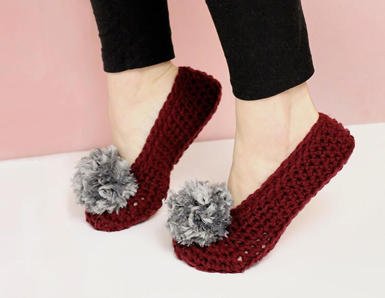 Crochet Booties for Adults Best Of Pom Pom Crochet Slippers for Adults Of Delightful 42 Models Crochet Booties for Adults