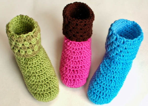 Crochet Booties for Adults Lovely La S Booties Crochet Slippers Of Delightful 42 Models Crochet Booties for Adults