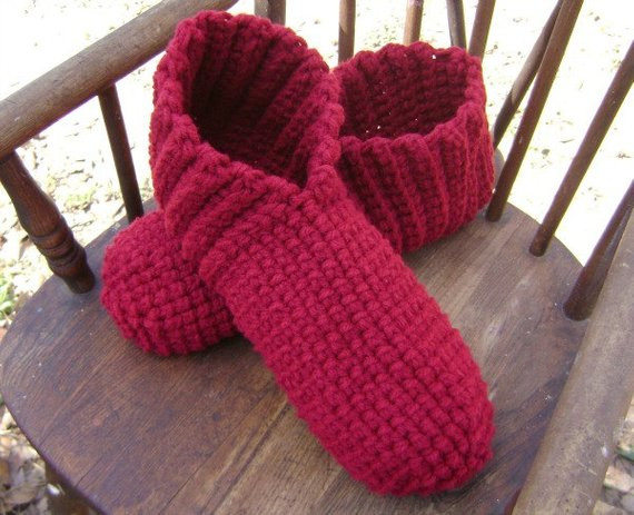 Crochet Booties for Adults Unique Crochet Adult Slippers Booties House Shoes Burgundy Adult Men Of Delightful 42 Models Crochet Booties for Adults