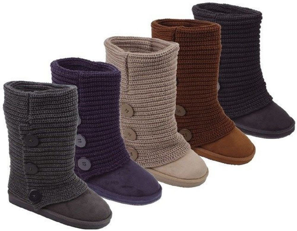 Crochet Boots Awesome Womens Rib Knit Sweater Crochet Boots 5 Colors Available Of Brilliant 43 Photos Crochet Boots