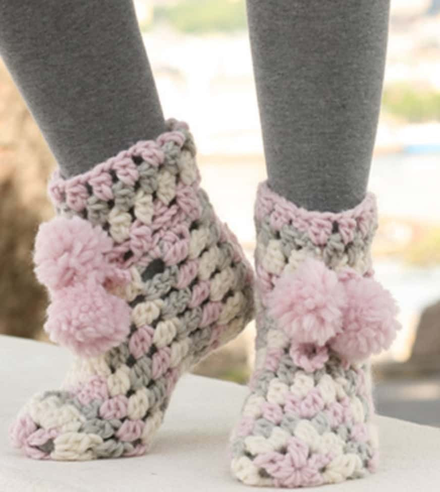 Crochet Boots Elegant Chunky Crochet Slippers Free Pattern Of Brilliant 43 Photos Crochet Boots