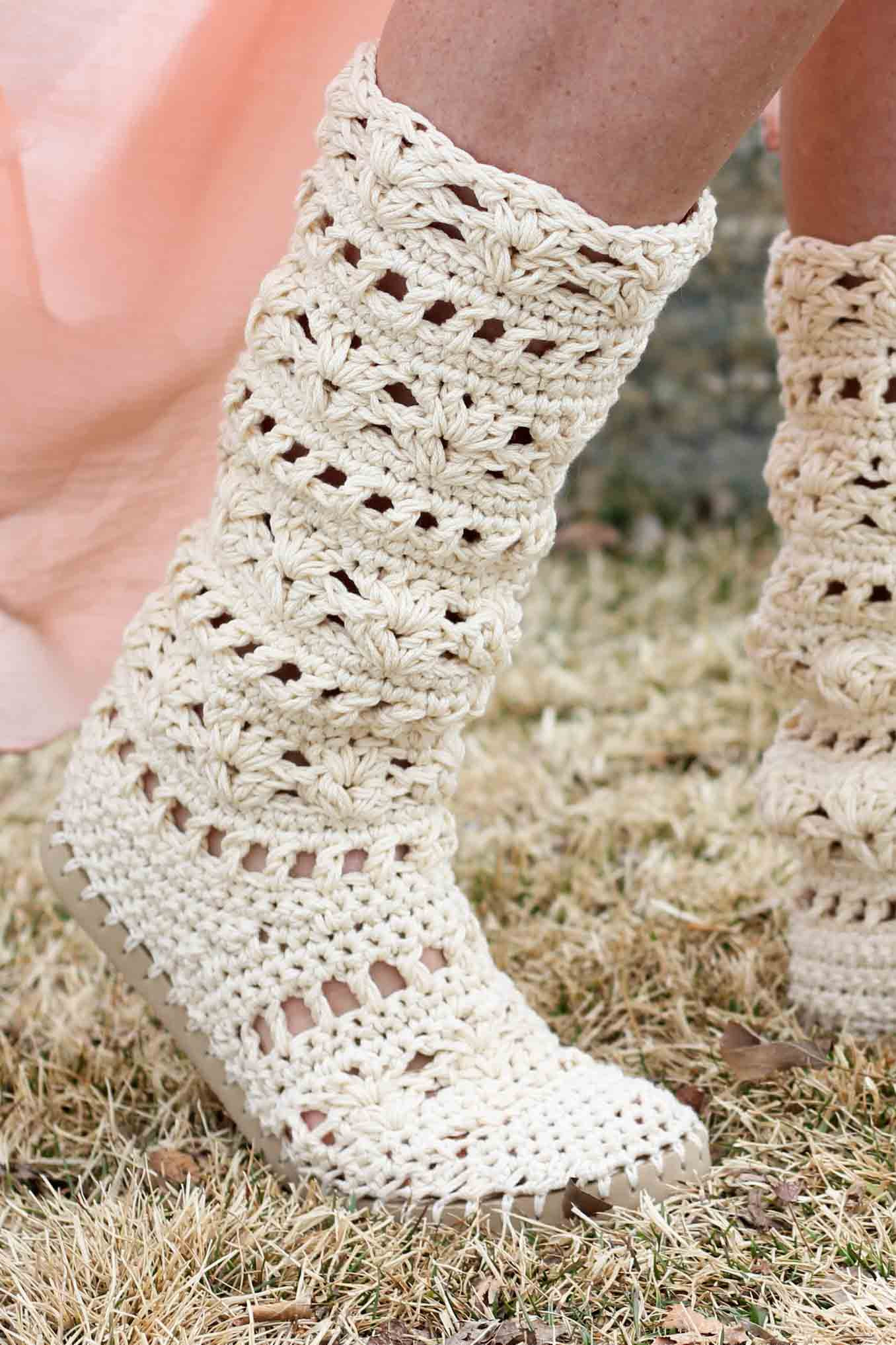 Crochet Boots Fresh Lacy Crochet Boots Pattern for Adults Made with Flip Flops Of Brilliant 43 Photos Crochet Boots
