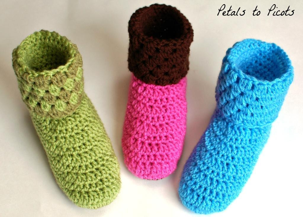 how to crochet slippers for beginners