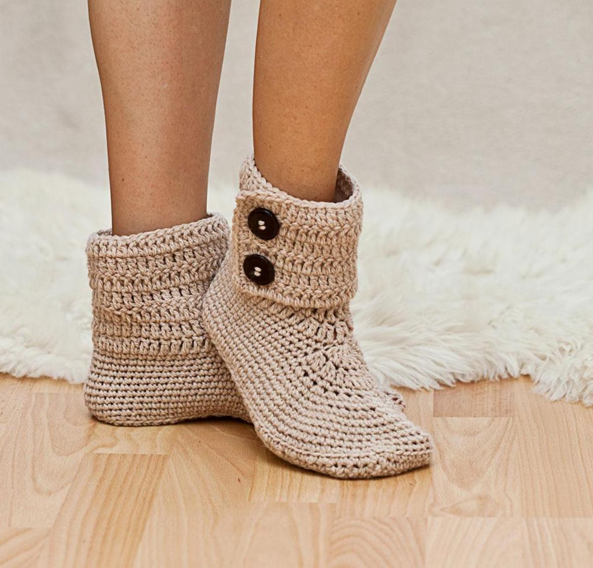 Crochet Boots Pattern Free Luxury La S button Ankle Boot Slippers Crochet Kit Of Amazing 44 Models Crochet Boots Pattern Free