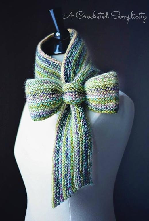 "Crochet Bow Tie New ""knit Look"" Bow Tie Cowl Scarf by Jennifer Pionk Craftsy Of Brilliant 40 Pics Crochet Bow Tie"
