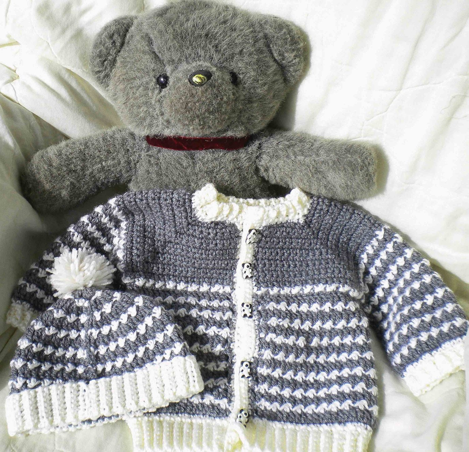 Crochet Boy Sweater Awesome Crocheted Baby Boy Grey Sweater Set Of Amazing 48 Images Crochet Boy Sweater