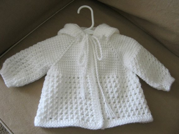 Crochet Boy Sweater Elegant White Crochet Baby Sweater with Hood for Boy or Girl 0 3 Of Amazing 48 Images Crochet Boy Sweater