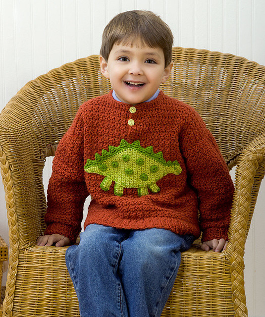 Crochet Boy Sweater Fresh Craft Passions Boy S Dino Sweater Free Crochet Of Amazing 48 Images Crochet Boy Sweater