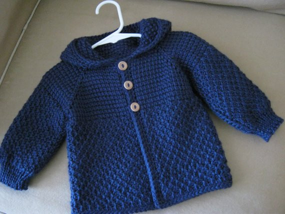 Crochet Boy Sweater Inspirational Navy Blue Crochet Baby Boy Sweater with Hood by Of Amazing 48 Images Crochet Boy Sweater
