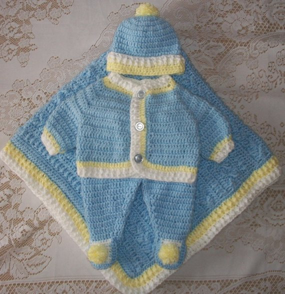 Crochet Boy Sweater Lovely Crochet Baby Boy Sweater Set Layette Outfit with Cable Blanket Of Amazing 48 Images Crochet Boy Sweater