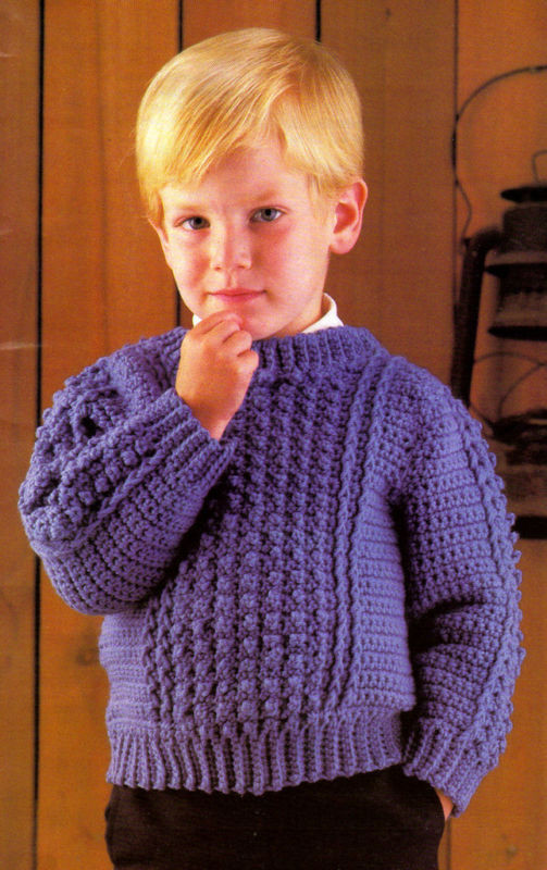 Crochet Boy Sweater New Handsome Boy S Sweater Crochet Pattern Instructions Only Of Amazing 48 Images Crochet Boy Sweater