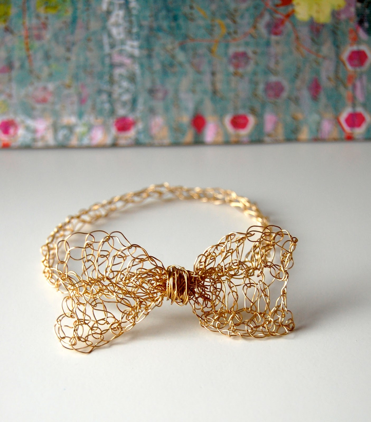 Crochet Bracelets Awesome Sellzcutethings Easy Gold Crochet Bow Bracelet Of Innovative 40 Images Crochet Bracelets