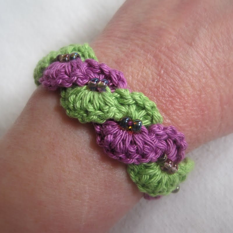 Crochet Bracelets New Mr Micawber S Recipe for Happiness Winding Lane Bracelet Of Innovative 40 Images Crochet Bracelets