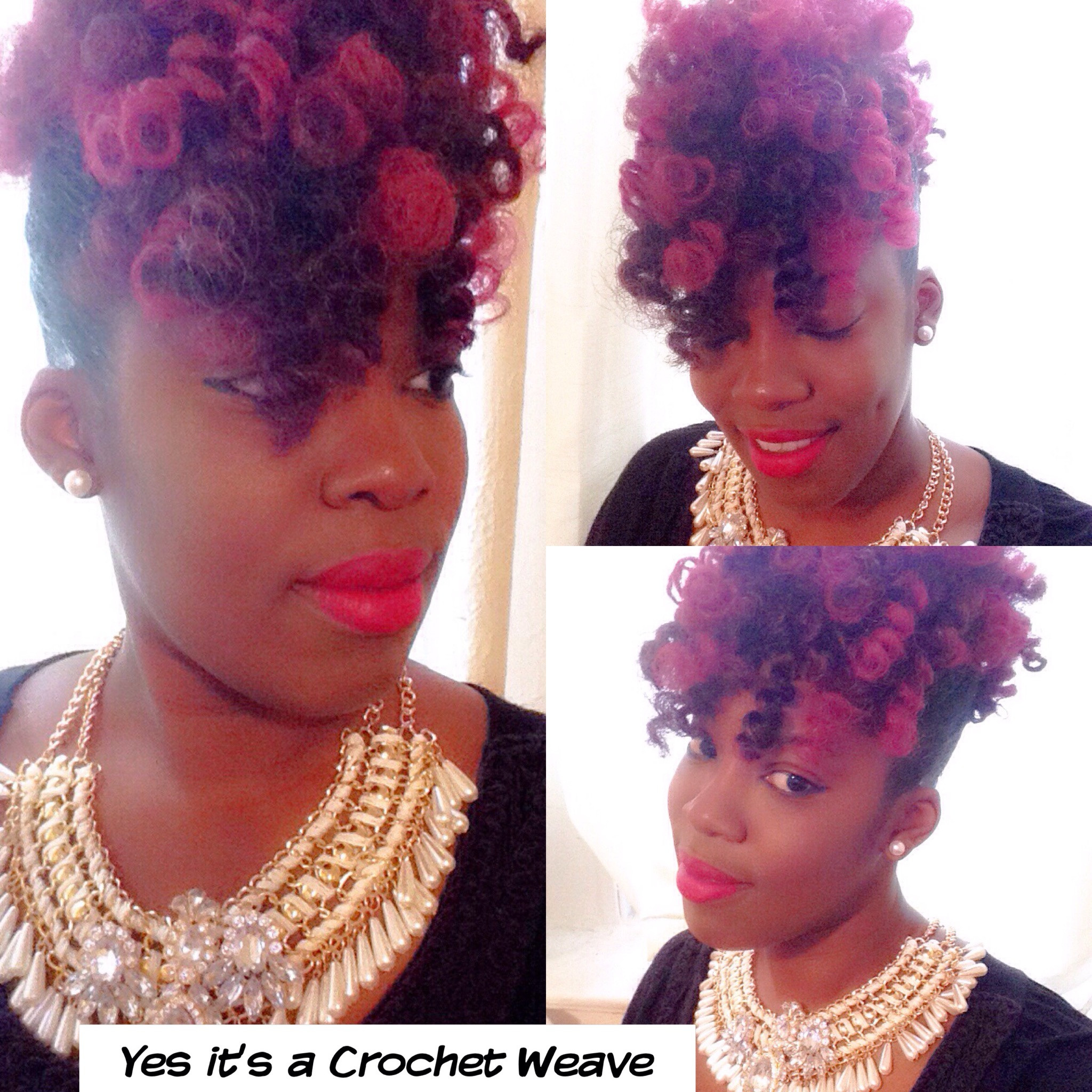 crochet weave updo hairstyle –