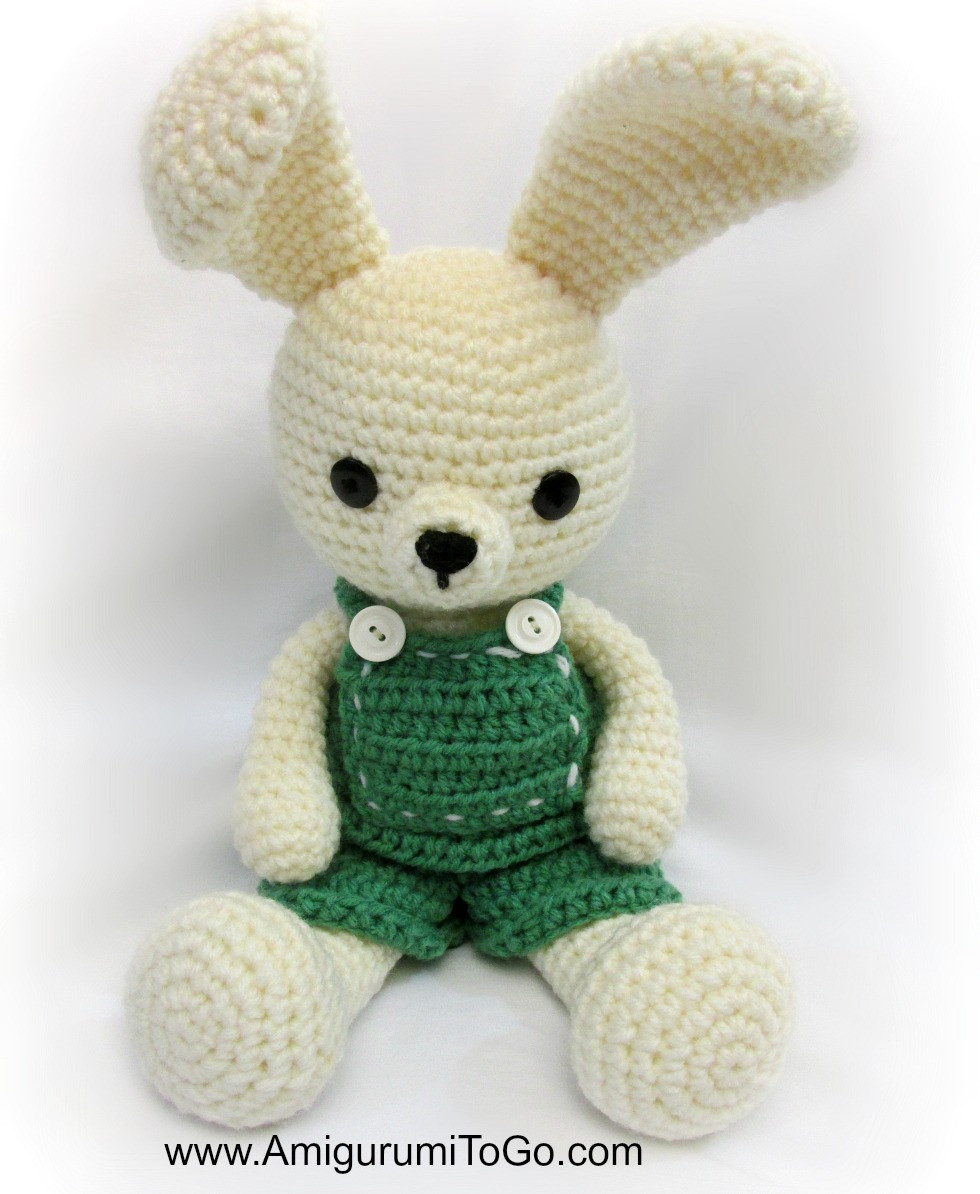 Crochet Bunny Pattern Free Inspirational Overalls for Dress Me Bunny Boy Clothes Amigurumi to Go Of Charming 50 Pictures Crochet Bunny Pattern Free
