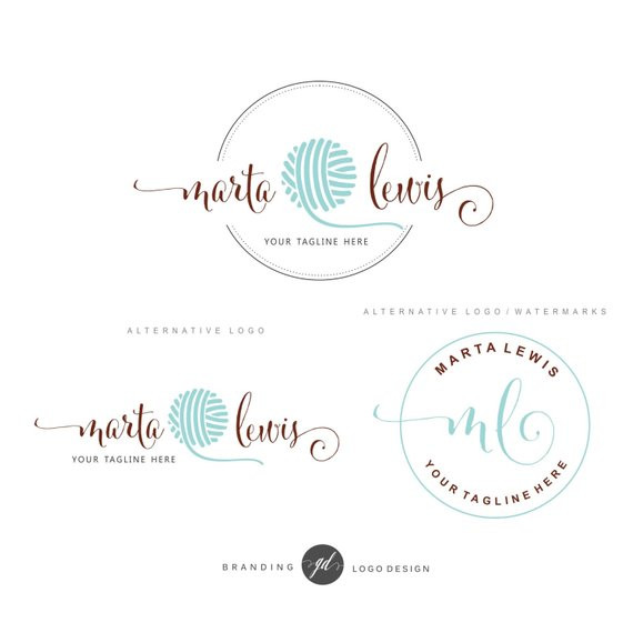 Crochet Business Name Ideas Elegant Crochet Logo Package Premade Branding Kit Knitting Logo Of Wonderful 48 Images Crochet Business Name Ideas