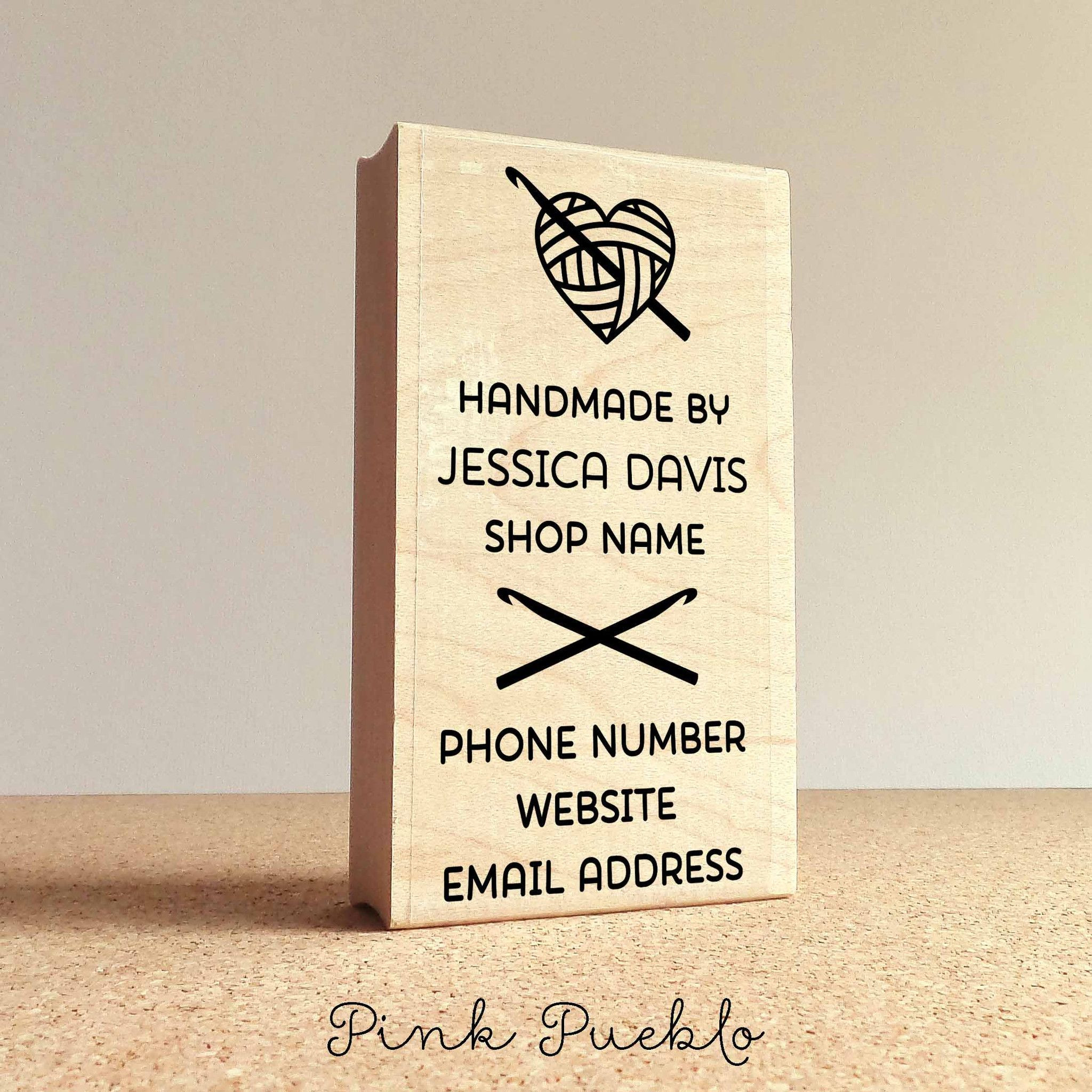 Crochet Business Name Ideas Inspirational Personalized Crochet Business Card Stamp Handmade by Of Wonderful 48 Images Crochet Business Name Ideas