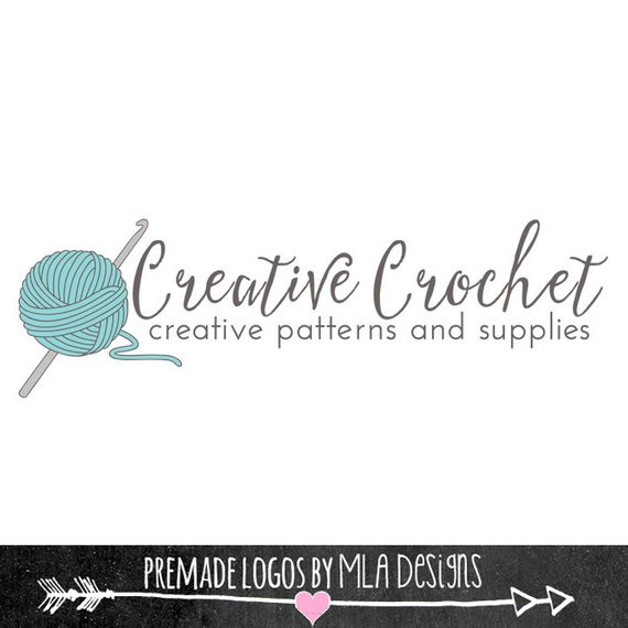 Creative Crochet Custom Logo Design Premade Logos by