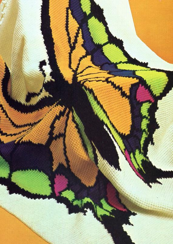 Crochet butterfly Blanket Awesome 1970s Sprightly butterfly Crochet Blanket Pattern by Of Luxury 37 Photos Crochet butterfly Blanket