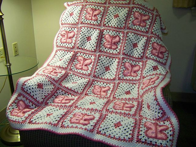 Crochet butterfly Blanket Awesome Ravelry Crochet butterfly Afghan Pattern by Mary Jane Of Luxury 37 Photos Crochet butterfly Blanket