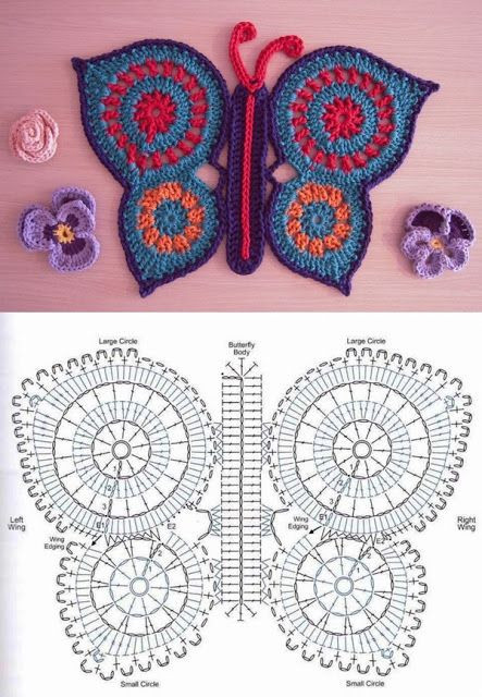 Crochet butterfly Pattern Fresh 50 Free Crochet butterfly Patterns ⋆ Crochet Kingdom Of Great 41 Pics Crochet butterfly Pattern
