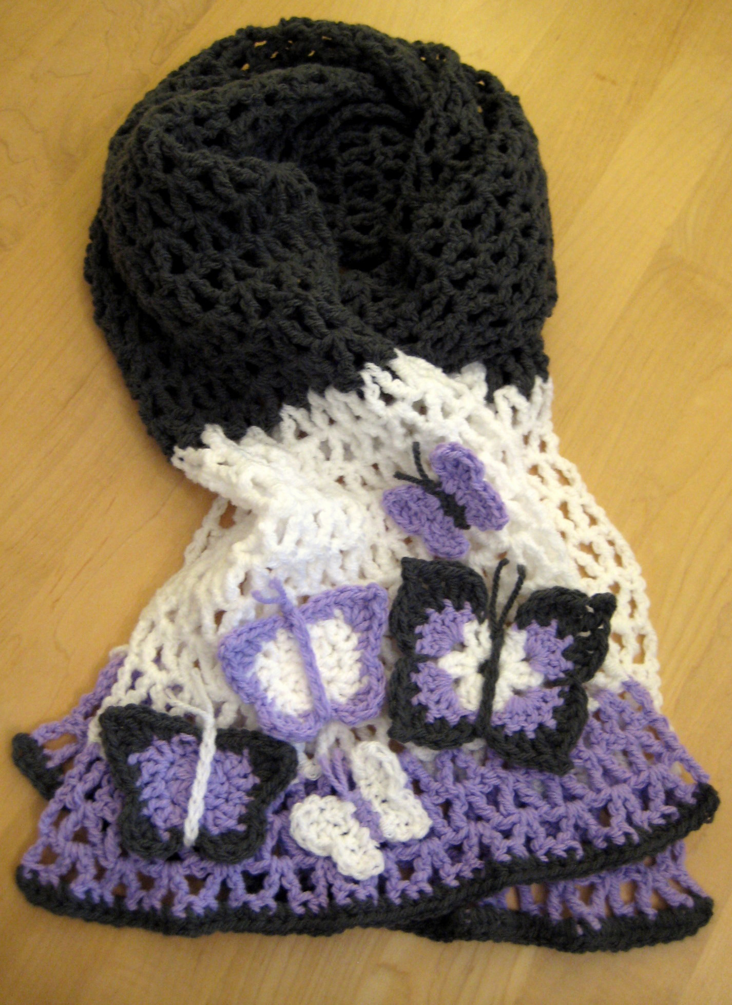 Crochet butterfly Pattern Inspirational butterfly Scarf Of Great 41 Pics Crochet butterfly Pattern