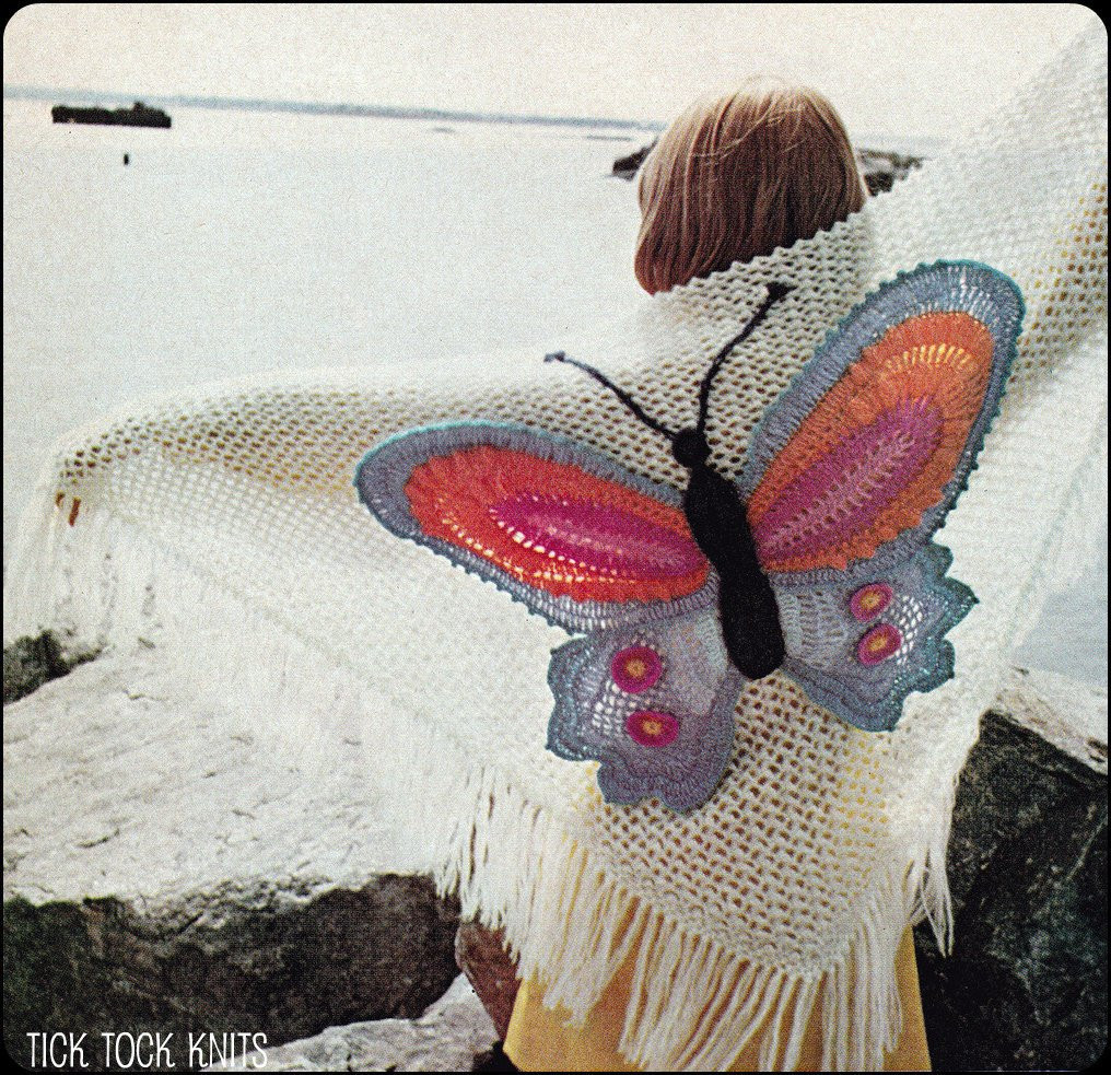 Crochet butterfly Pattern Lovely No 142 Pdf Vintage Crochet Pattern Women S butterfly Shawl Of Great 41 Pics Crochet butterfly Pattern