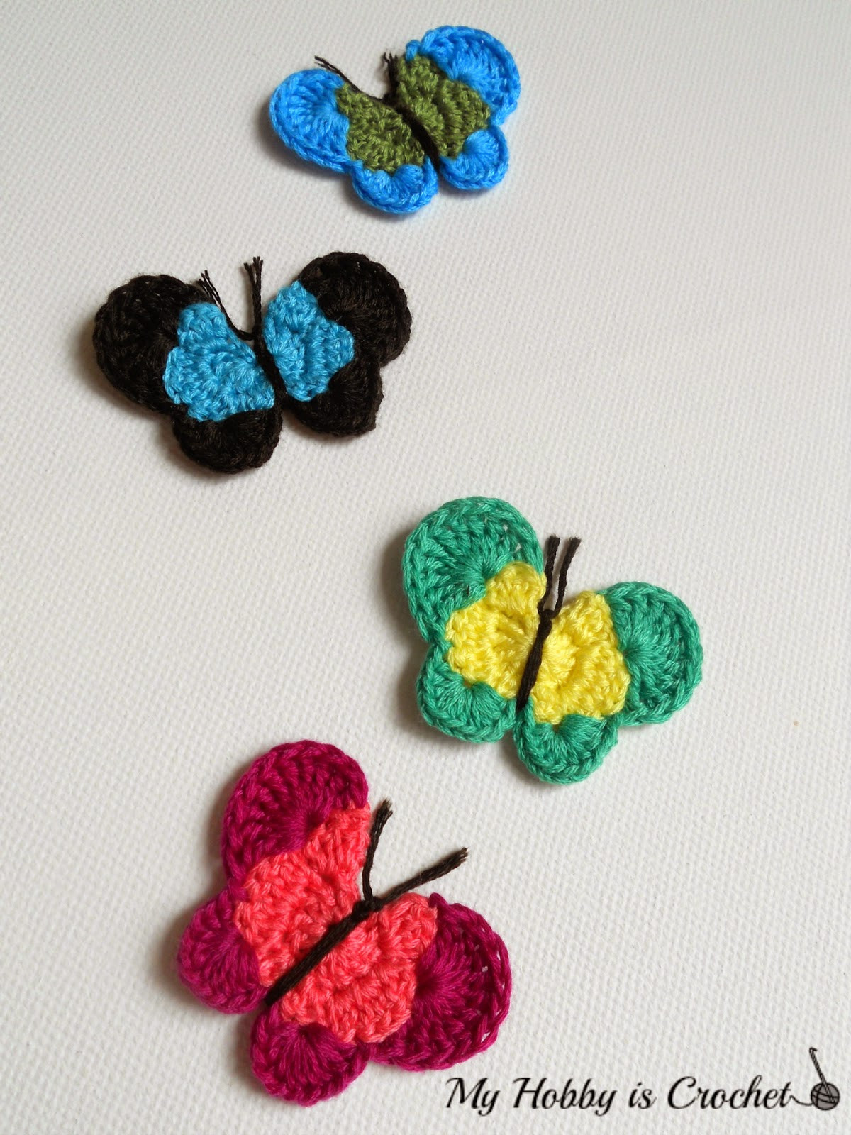 Crochet butterfly Pattern Luxury My Hobby is Crochet Crochet butterfly Applique Free Of Great 41 Pics Crochet butterfly Pattern