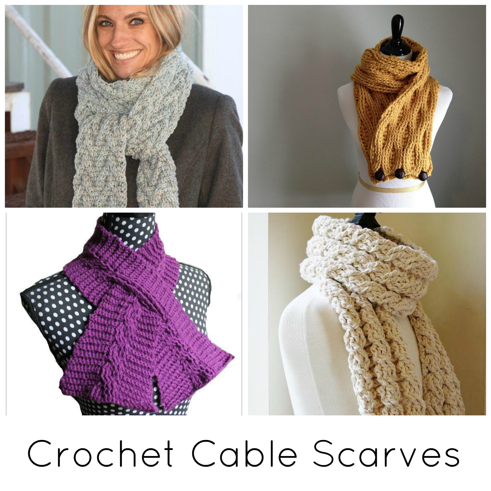 Crochet Cable Pattern Awesome Crochet Cable Scarf Patterns 10 Projects You Ll Love Of Perfect 40 Ideas Crochet Cable Pattern