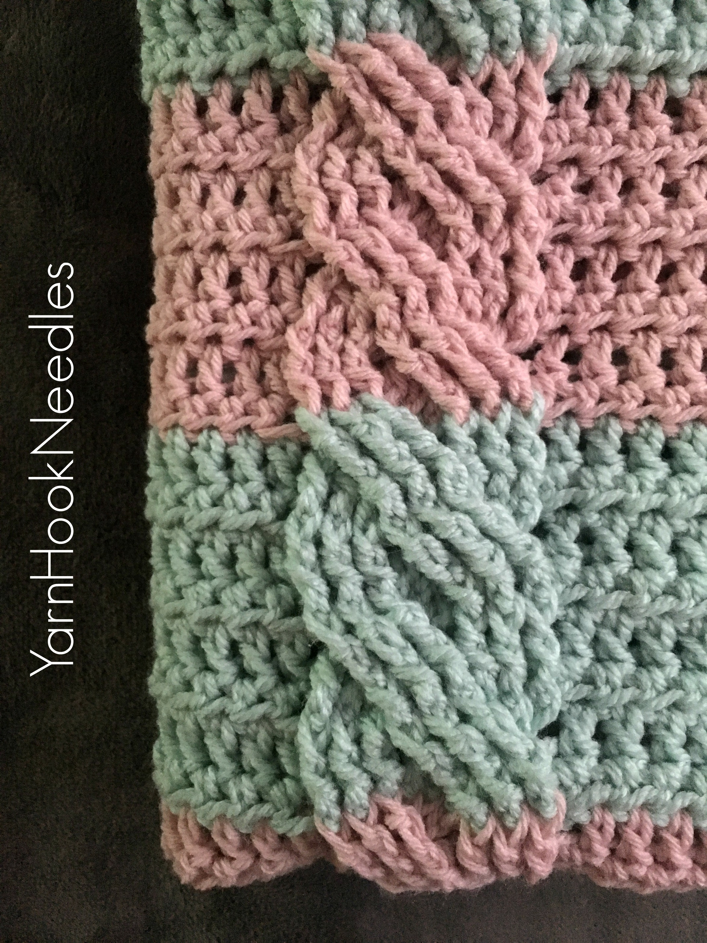 Crochet Cable Pattern Beautiful Crochet Cable Blanket with Free Pattern Yarnhookneedles Of Perfect 40 Ideas Crochet Cable Pattern