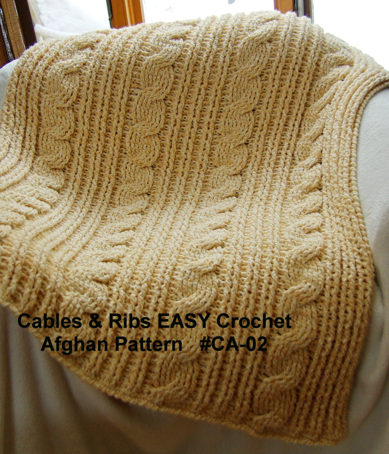 Crochet Cable Pattern Elegant Crochet Blanket Pattern Cables & Rib Easy Crochet Afghan Of Perfect 40 Ideas Crochet Cable Pattern