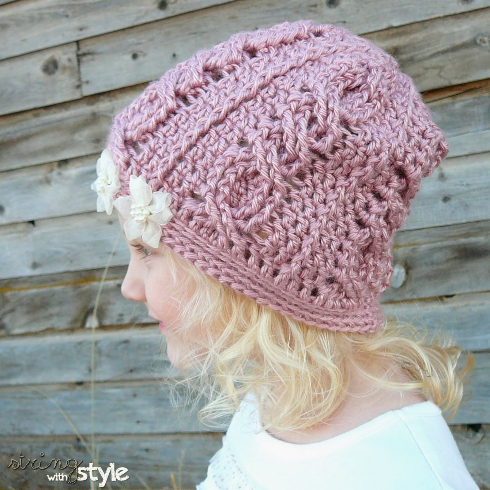 Crochet Cable Pattern Inspirational String with Style Cabled Cutie Slouch Of Perfect 40 Ideas Crochet Cable Pattern