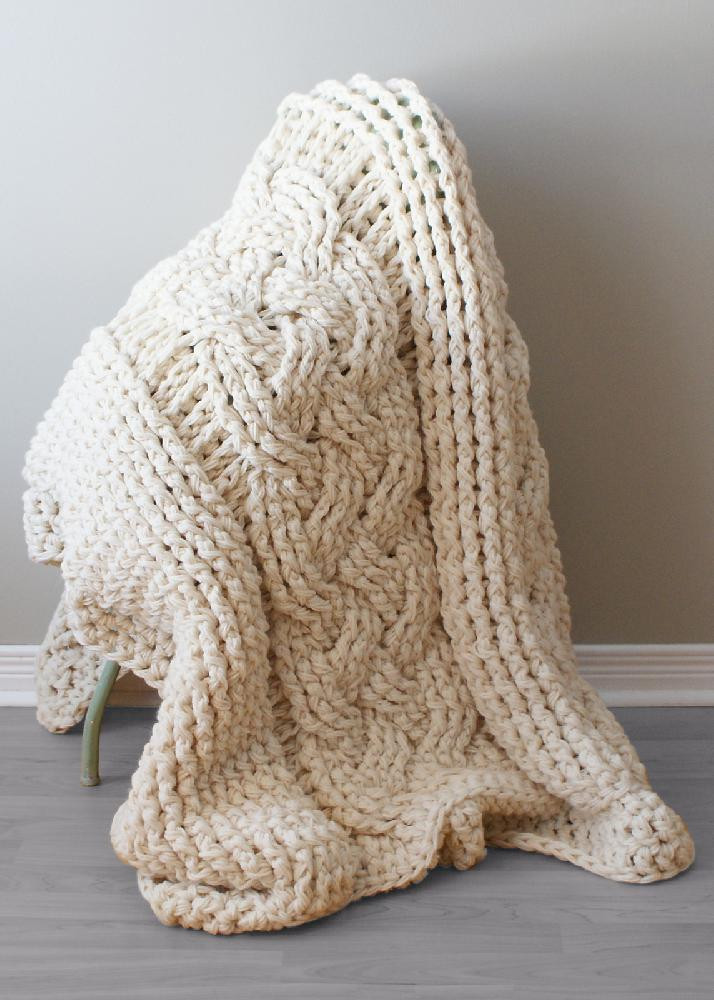 Crochet Cable Pattern Lovely Chunky Double Cable Crochet Blanket Rug Blanket007 Of Perfect 40 Ideas Crochet Cable Pattern