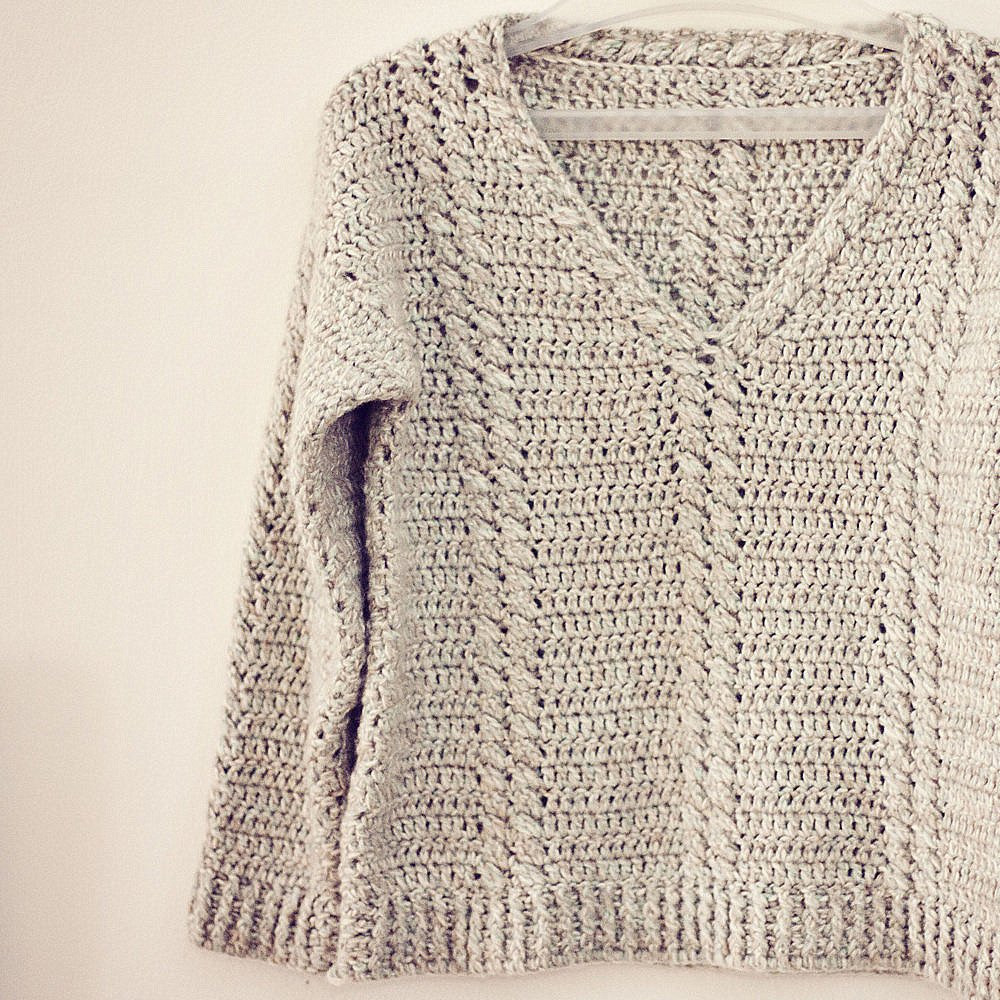 Crochet Cable Pattern Unique Crochet Pattern Cable V Neck Sweater Of Perfect 40 Ideas Crochet Cable Pattern