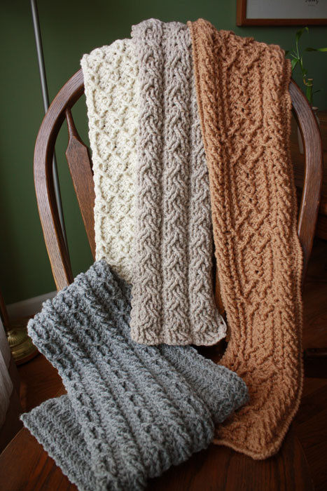 Mountain Range Scarves Cable $6 99 Crochet Garden