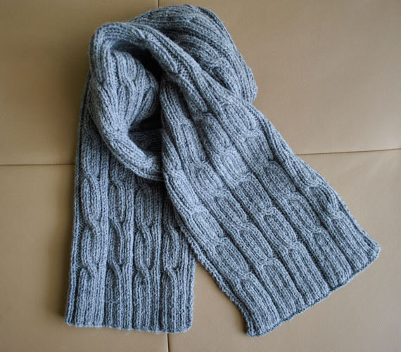 men s cabled scarf pattern on Etsy