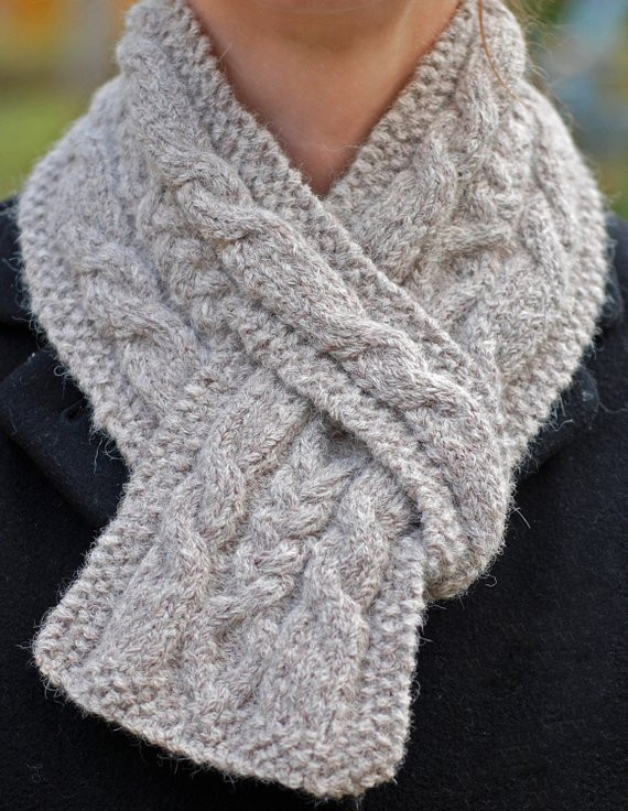 Hiawatha Pull Through Cable Scarf Knitting Pattern