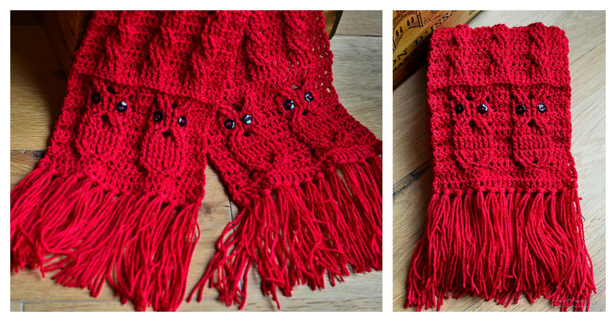Crochet Cable Scarf Inspirational Owl Cabled Scarf Free Crochet Pattern Of Incredible 40 Photos Crochet Cable Scarf
