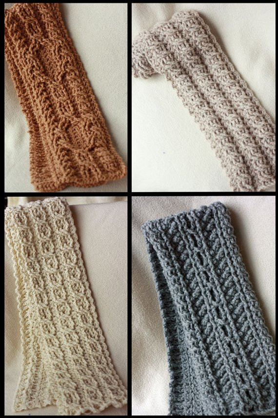 Crochet Cable Scarf Luxury Canyon River Cable Scarves Crochet Pattern 4 Striking Cable Of Incredible 40 Photos Crochet Cable Scarf